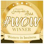 Jacqueline Gold WOW winner badge