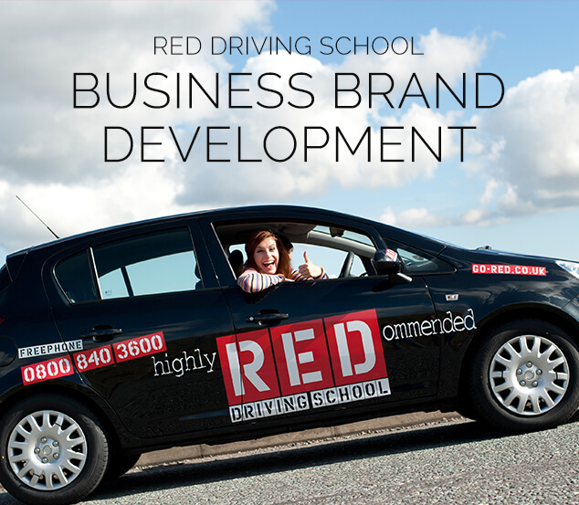 Red Driving School Business Brand Development