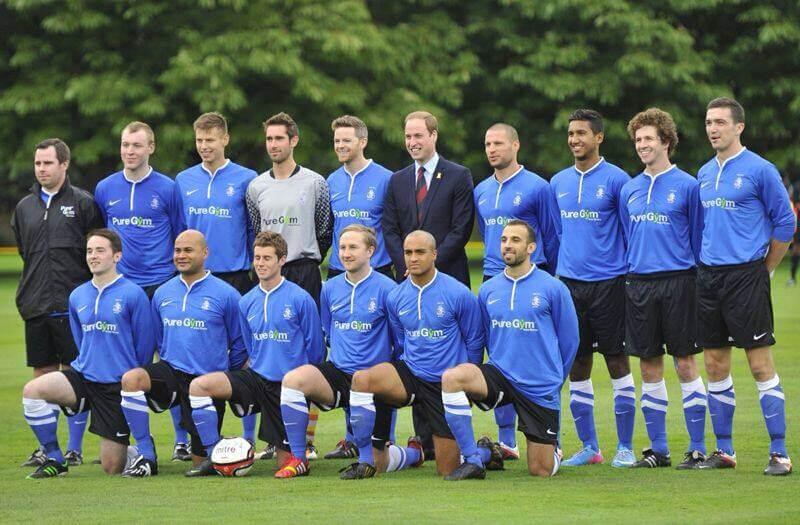 Polytechnic FC at Buckingham Palace. Image: Press Association