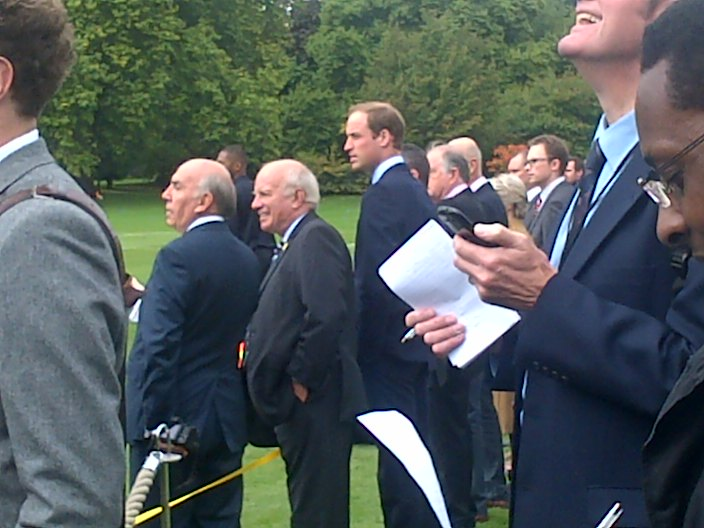 Prince William and Greg Dyke