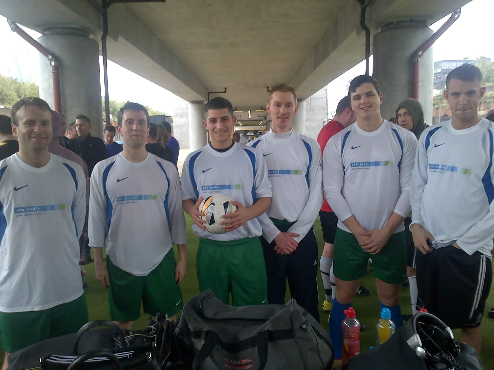 Team PHA try out 5 a side PowerLeague football