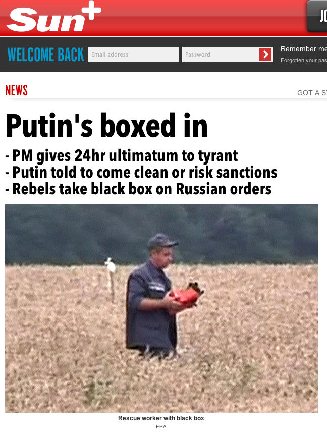 Anti Putin Headlines