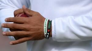 Ali's wristband has caused uproar.