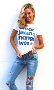 Kimberley Garner - Jeans for Genes Day Ambassador