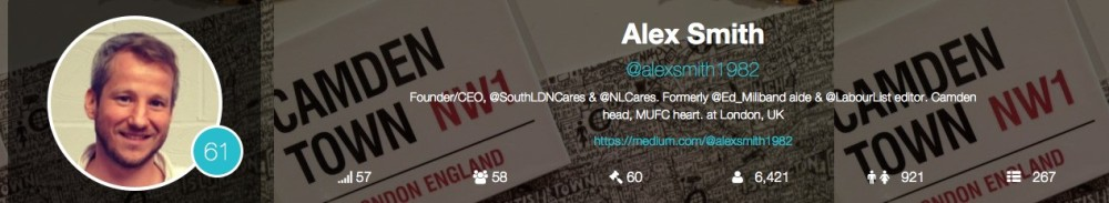 Alex Smith – North London Cares twitter