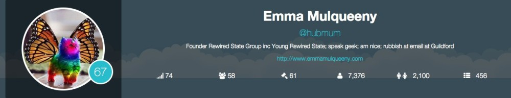 Emma Mulqueeny - Young Rewired State twitter