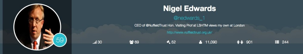 Nigel Edwards – Nuffield Trust twitter