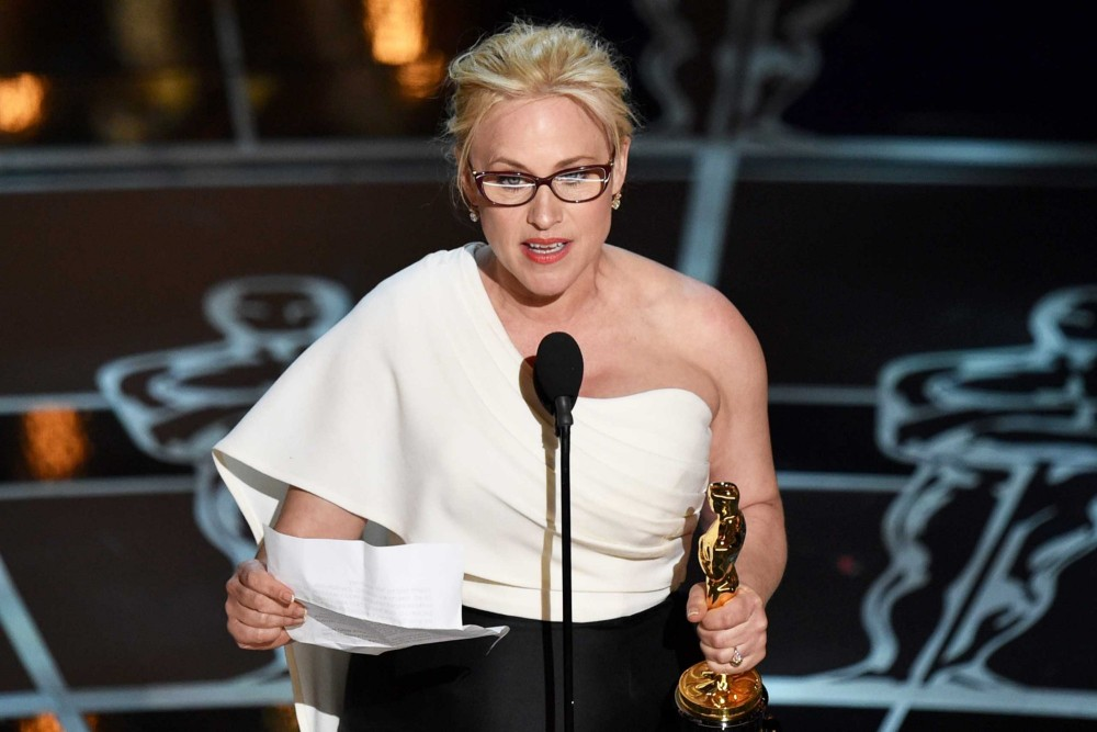 Patricia Arquette used the podium to raise the issue of equal pay for women.