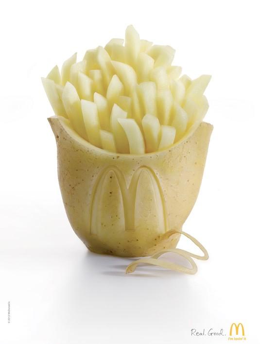 McDonalds potato fries poster