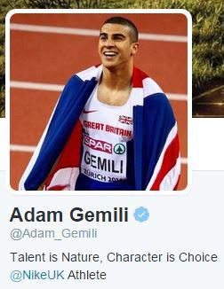 Adam Gemili Twitter