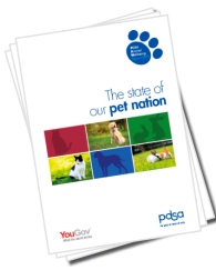 PDSA the state of our pet nation report - Featuring a selection of dogs and cats on the front of the report