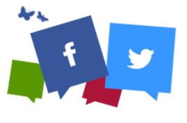 Zoological Society of London social hub with social media icons including Facebook and Twitter