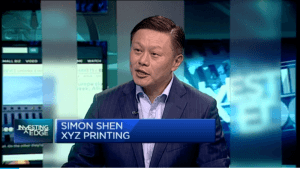 XYZprinting's CEO talks to CNBC about the future of 3D printing