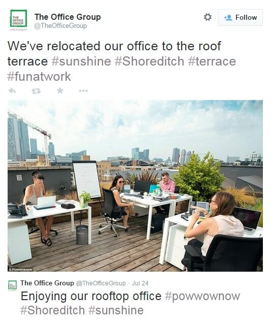 The #PowwowHelpMeNow campaign moved a stuffy office to a roof terrace