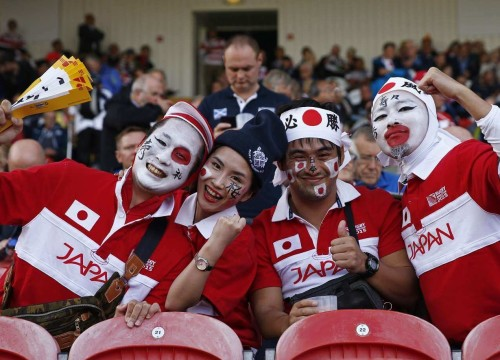 Japan rugby world cup fans