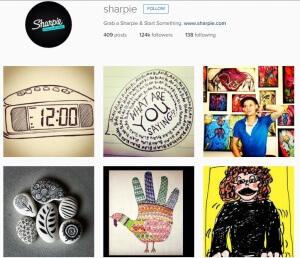 Sharpie Instagram feed