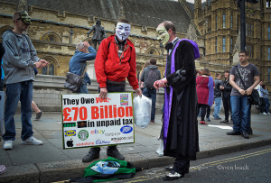 Facebook tax avoidance protest