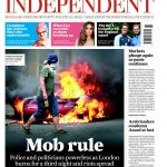 Front page of the Independent