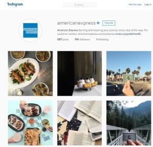 American Express Instagram Feed