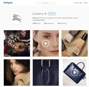Burberry Instagram Feed