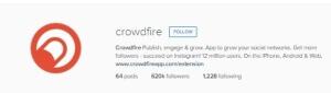 Crowdfire Instagram Tool