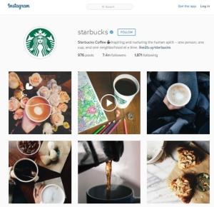 Starbucks Instagram Feed