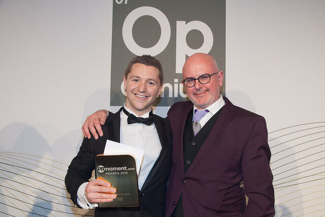 Nick Braund Pr moment Young professional of the Year 2016