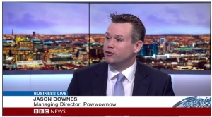 Jason Downes on BBC Business Live
