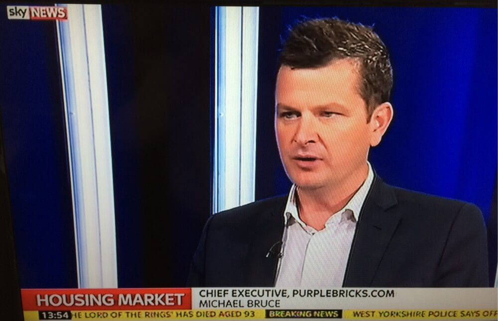 Purplebricks' CEO, Michael Bruce, gives his expertise on Sky News