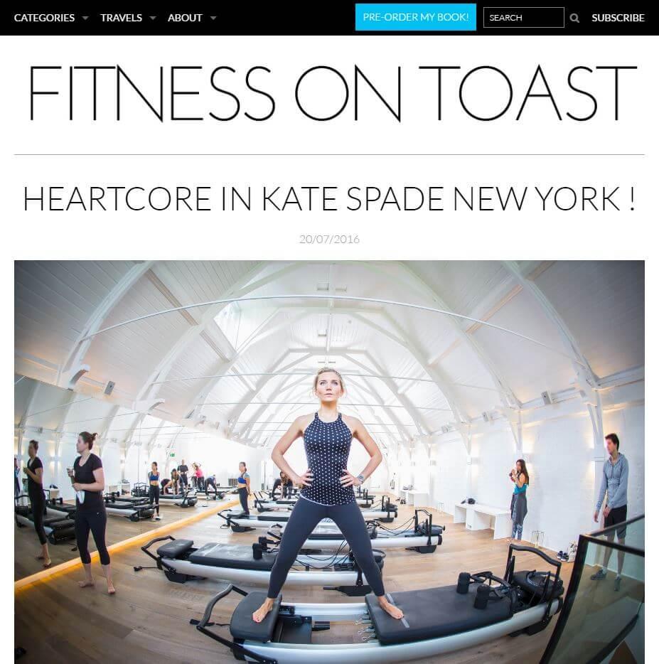 fitness on toast