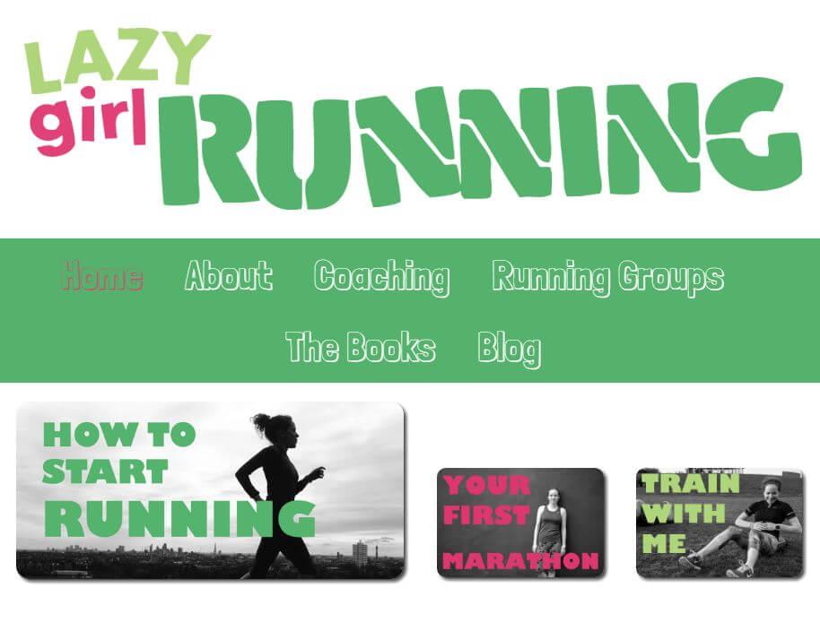 lazy girl running
