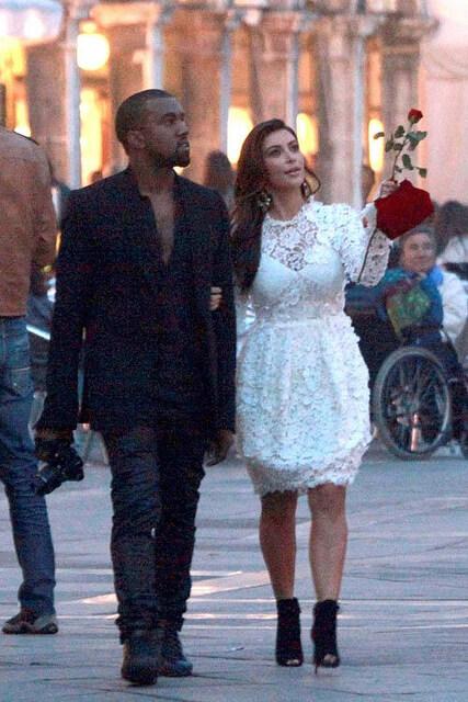 Kim Kardashian and Kanye paparazzi famous
