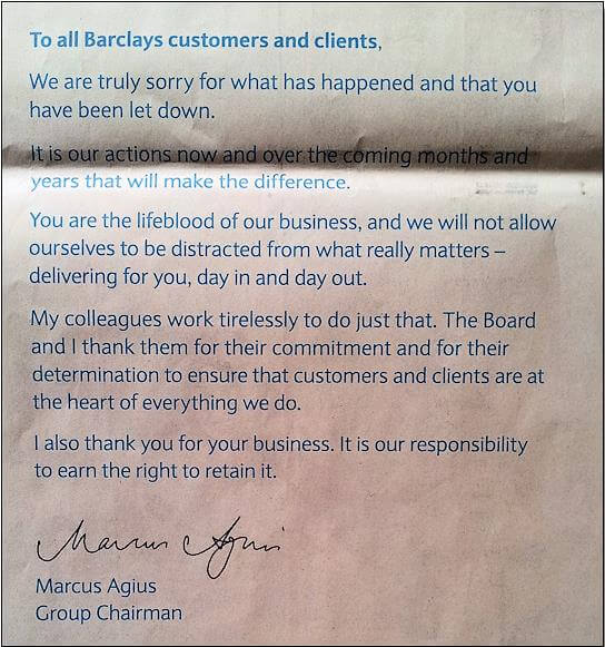 Barclays Apology - Business PR PHA Media