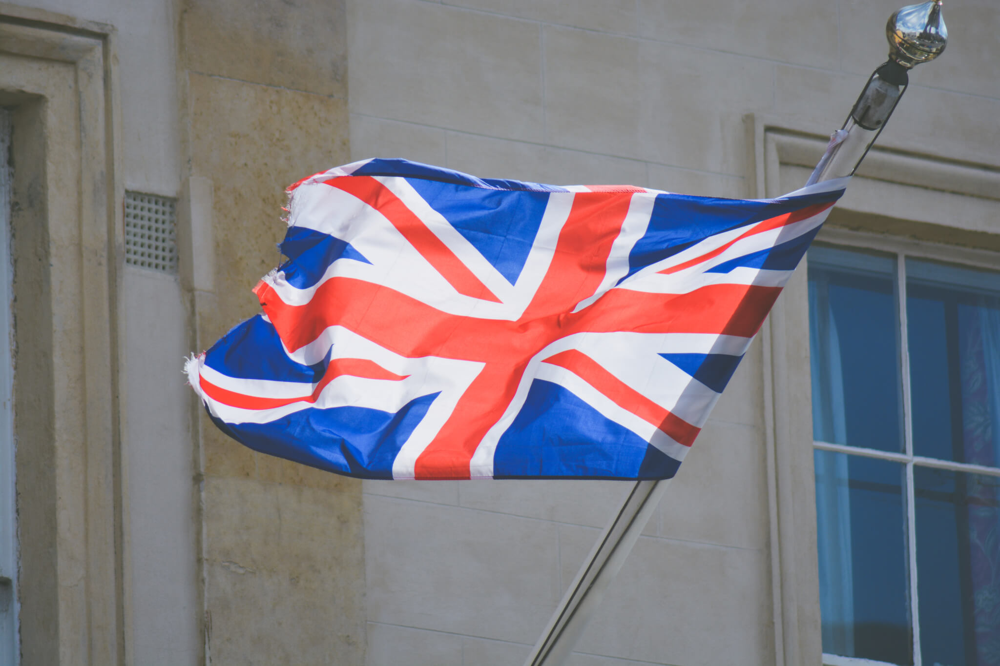 Great Britain Flag Flying