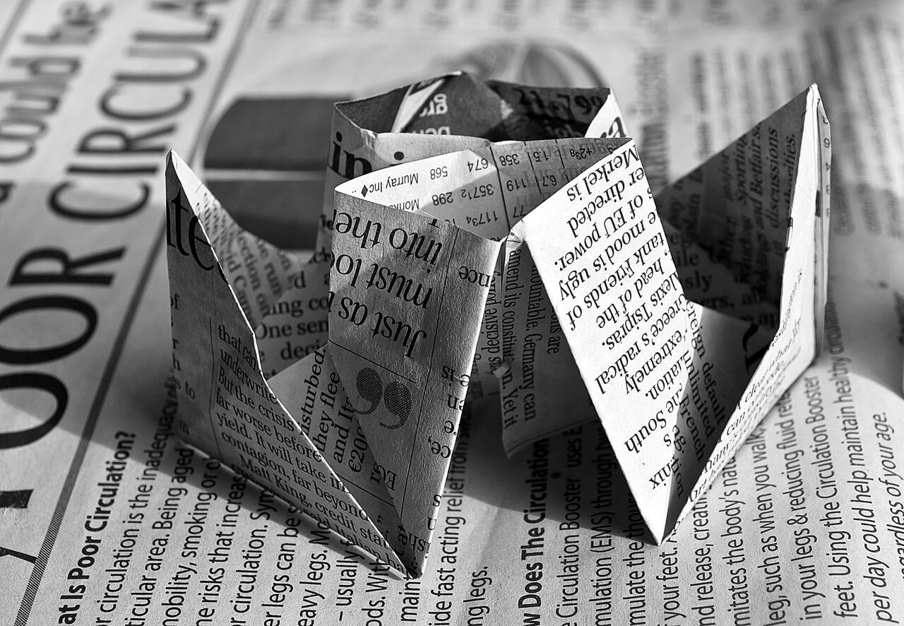 Newspaper Origami