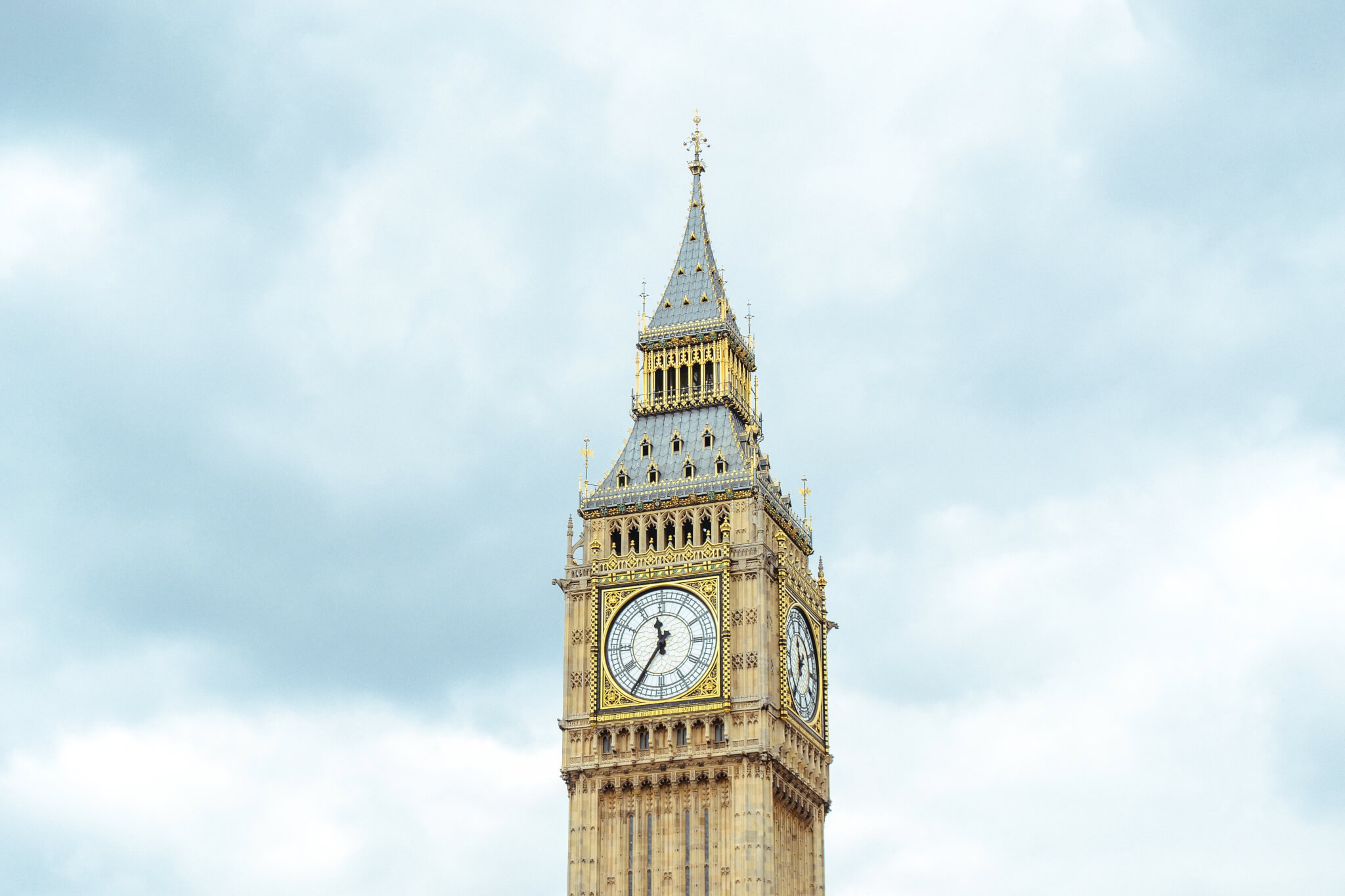 Big Ben - Parliament UK on a clear blue sky