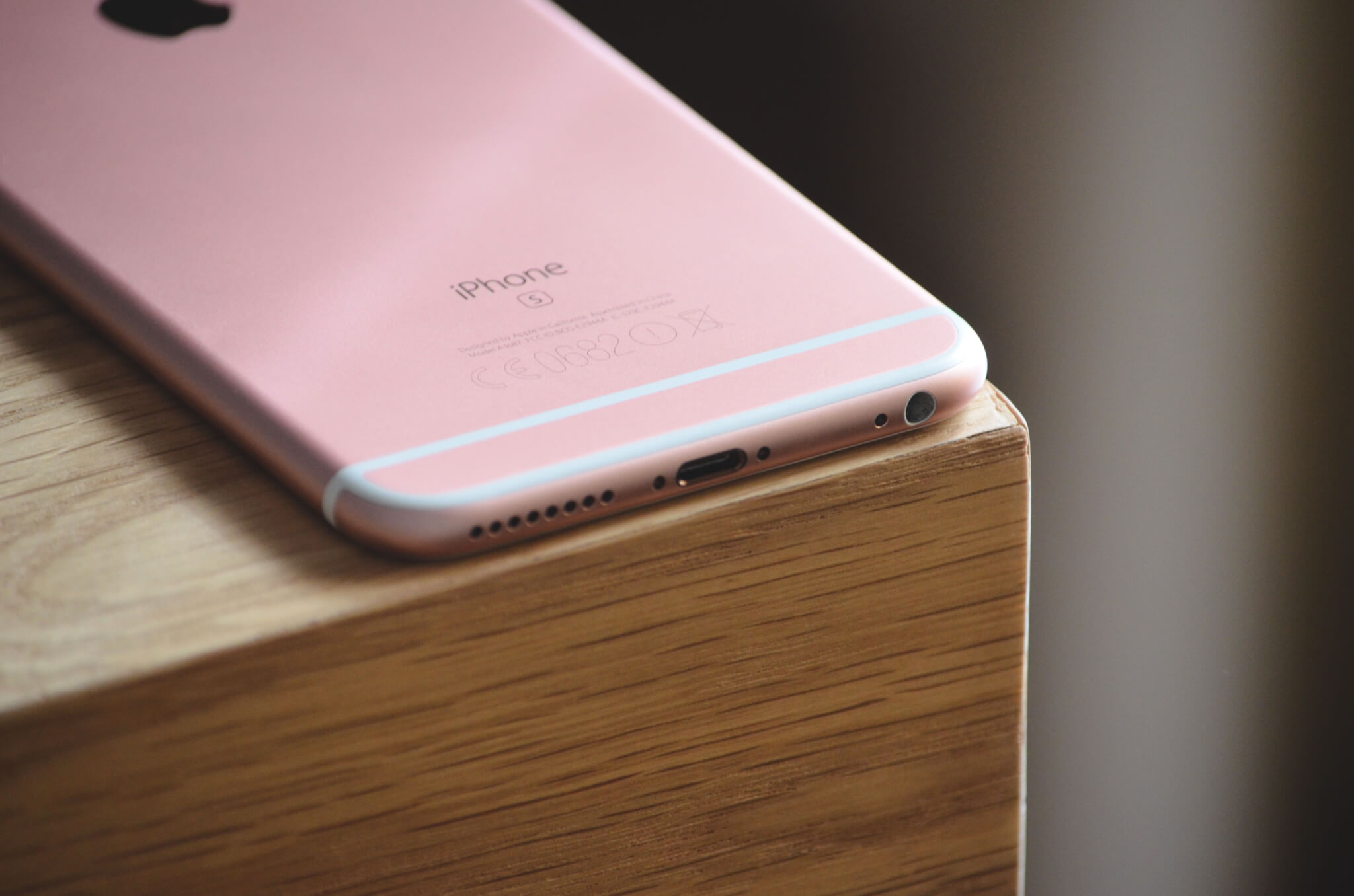 iPhone6s Apple - Technology Phone laying on the table