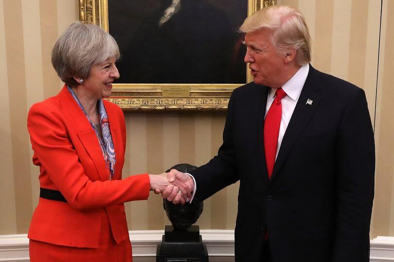 Theresa May Donald Trump White House Meeting