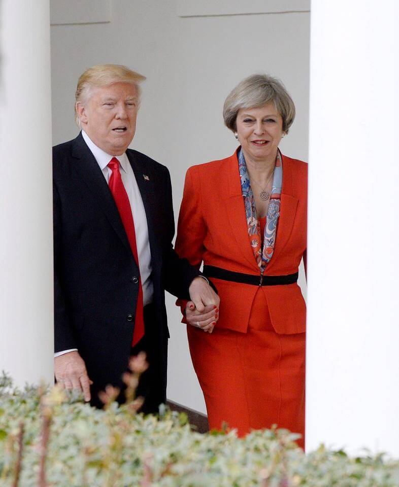 Trump May Holding Hands - Special Relationship
