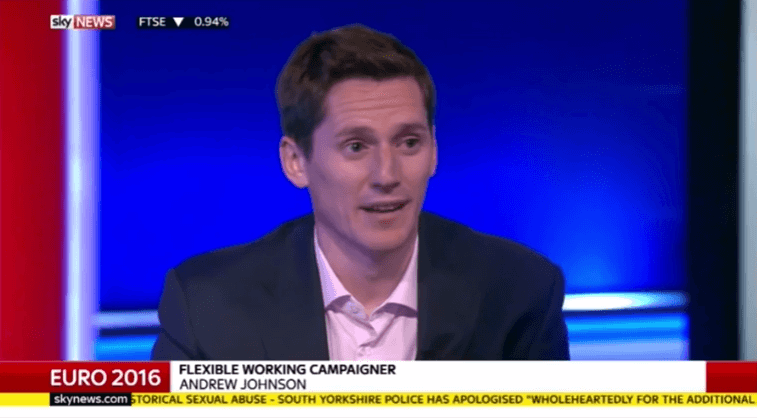 Powwownow FD Andrew Johnson on Sky News