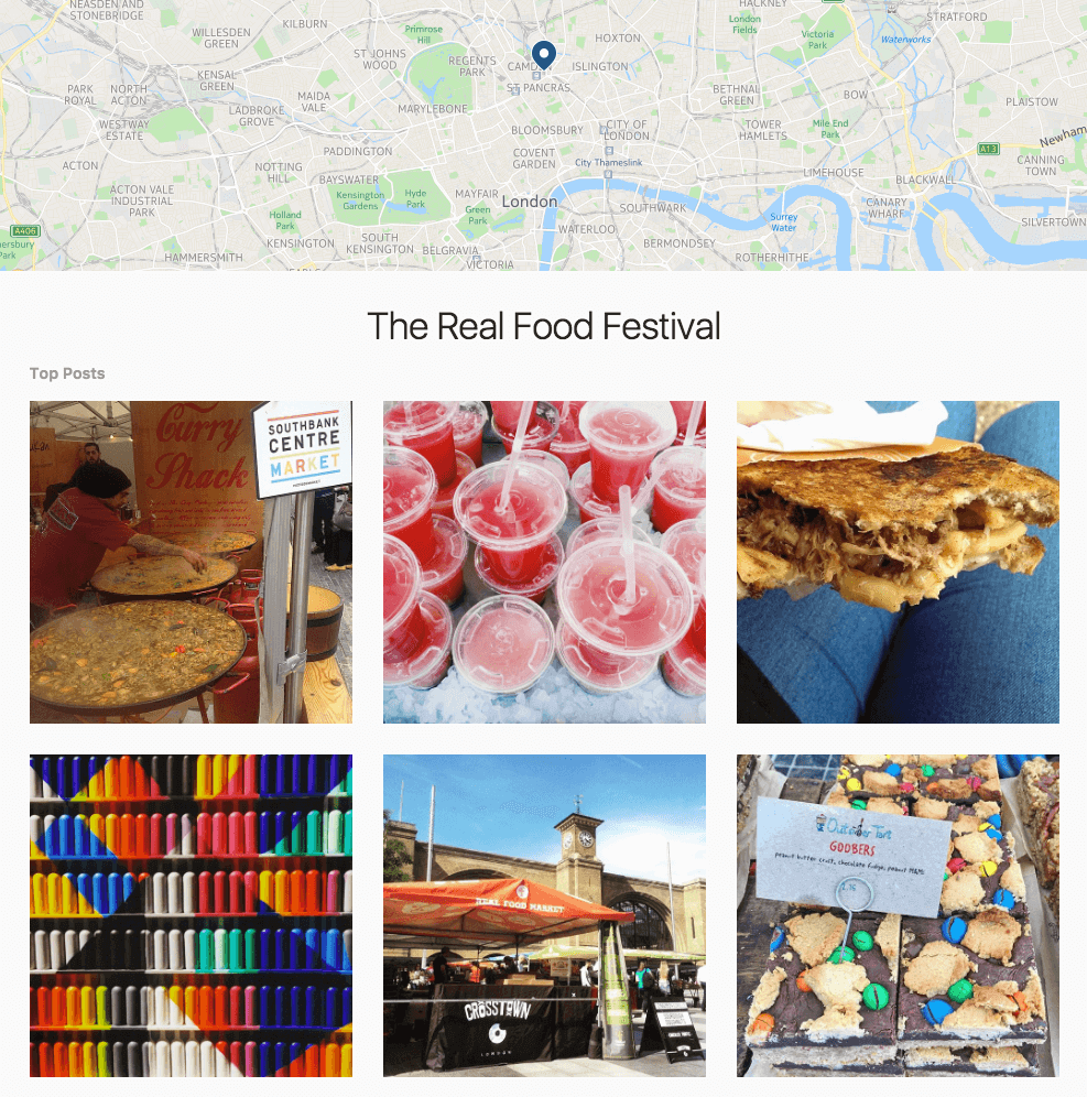 Real Food Festival Instagram Feed Grow Your Social Startup PHA Media