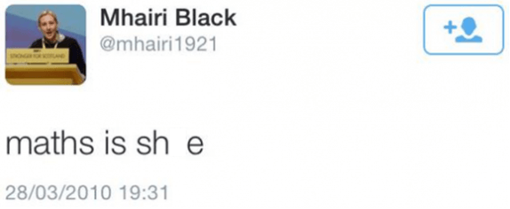 Mhairi Black tweet from 2010