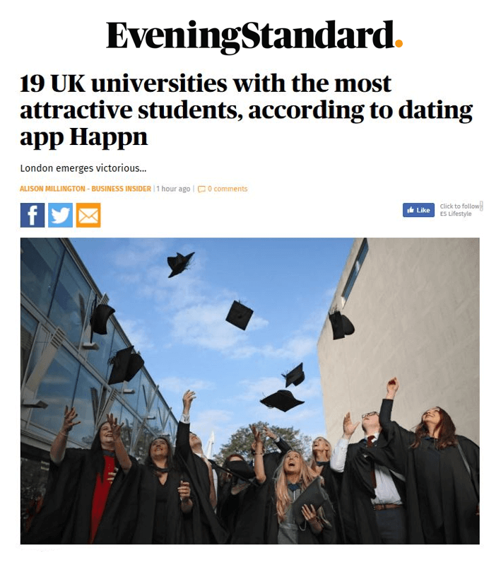 Universities evening standard article