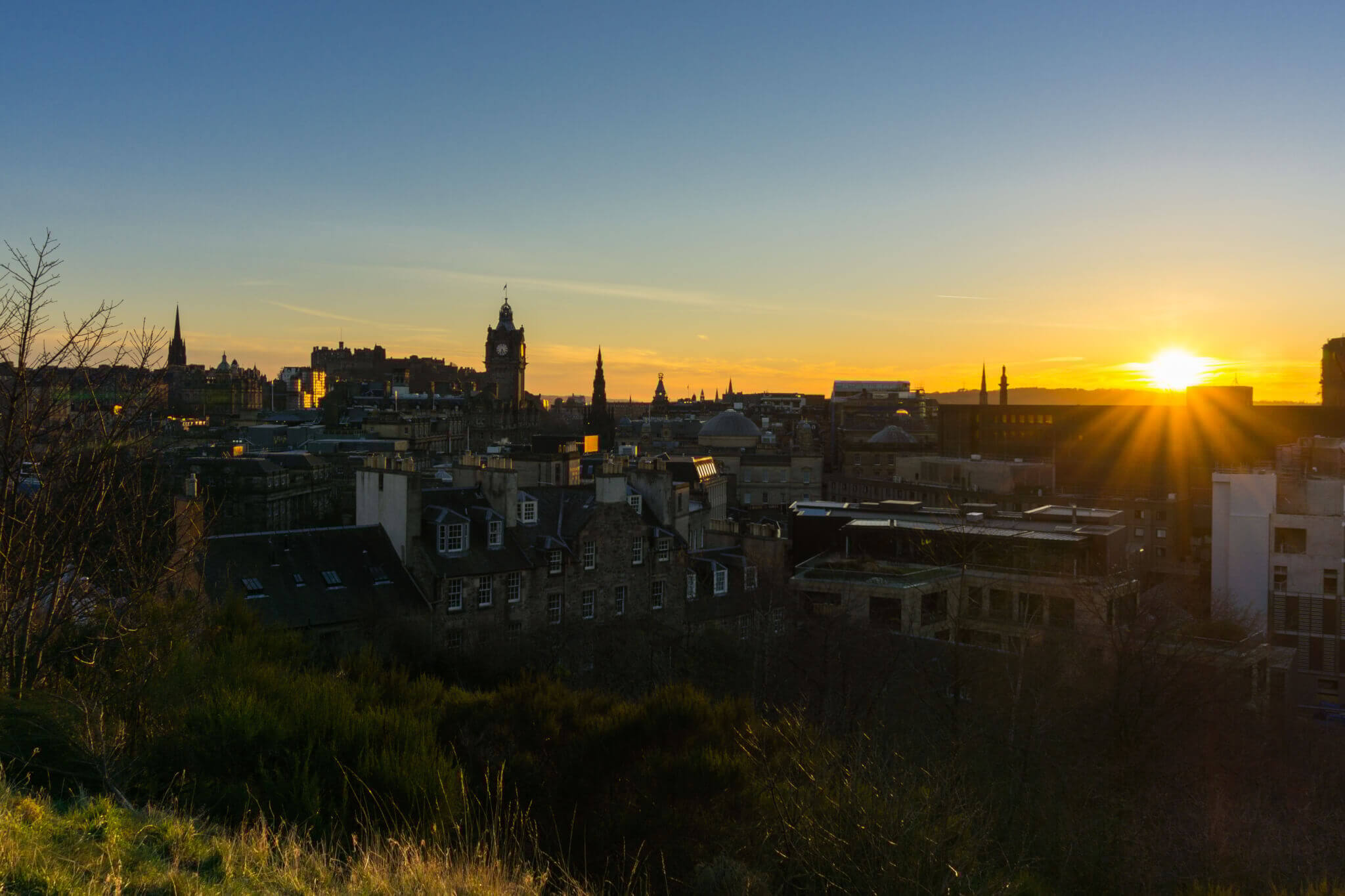 Edinburgh View sunset