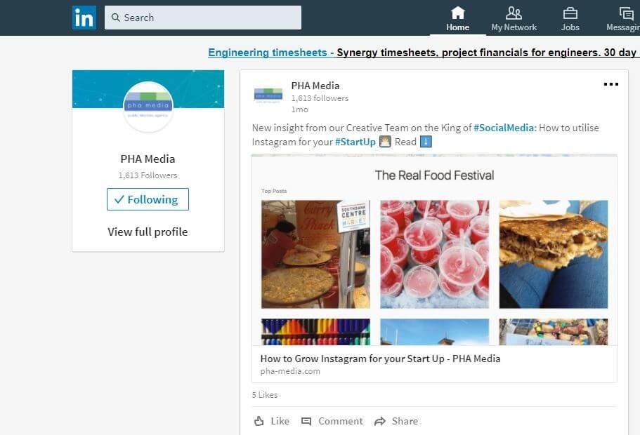 LinkedIn PHA Media