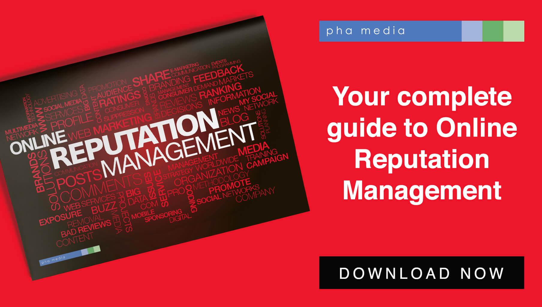 PHA Media online reputation management ebook graphic