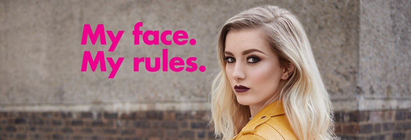 Sleek make up - My face, my rules campaign