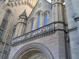 A picture of University of Manchester building