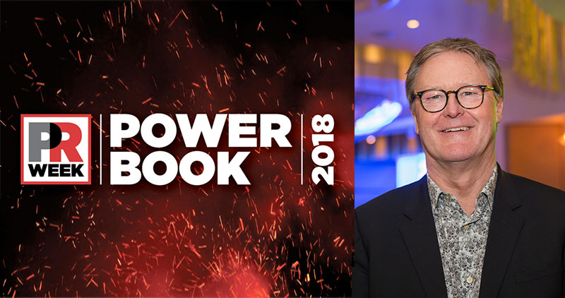 Phil Hall named in PR Week's Power Book 2018