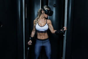 Specifically design VR equipment which helps fitness